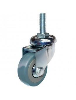 Колесо аппаратное серая резина болтовое крепление SCtg100 (диаметр 100 мм)
