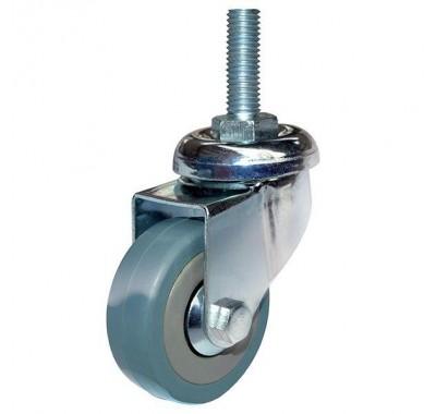 Колесо аппаратное серая резина болтовое крепление SCtg50 (диаметр 50 мм)