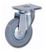 Колесо аппаратное серая резина поворотное SCg100 (диаметр 100 мм)