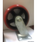 RXDSP200 Колесо сверхбольшегрузное полиуретановое поворотное диаметр 200 нагрузка 900 кг