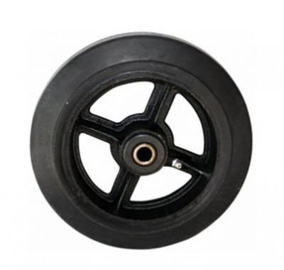 Колесо большегрузное обрезиненное без кронштейна D125 (диаметр 125 мм)