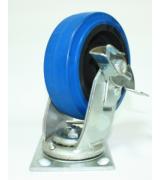 Колесо большегрузное обрезиненное поворотное с тормозом C550В\EUP6200B (диаметр 160 мм)