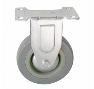 Колесо аппаратное серая резина не поворотное FCg125 (диаметр 125 мм)