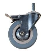 Колесо аппаратное серая резина болтовое крепление SCtgb50 (диаметр 50 мм)