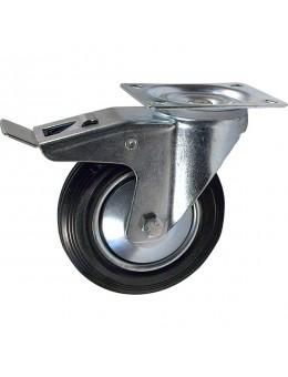 Колесо промышленное поворотное с тормозом SRCb 100 (диаметр 100 мм)