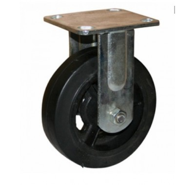 Колесо большегрузное обрезиненное не поворотное FCd100 (диаметр 100 мм)