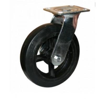 Колесо большегрузное обрезиненное поворотное SCd160 (диаметр 150 мм)