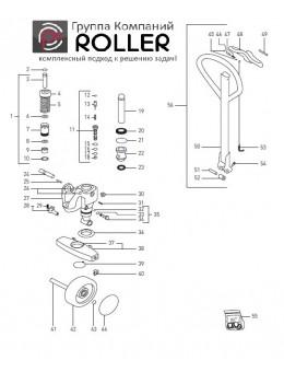 Запасные части к тележкам роклам гидроузел/ручка Jungheinrich