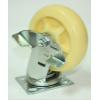 Колесо полиамидное поворотное c тормозом C550B\PP104 (диаметр 100 мм)