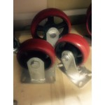 RXDP150 Колесо сверхбольшегрузное полиуретановое не поворотное диаметр 150 нагрузка 850 кг