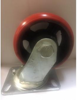 RXDSP150 Колесо сверхбольшегрузное полиуретановое поворотное диаметр 150 нагрузка 850 кг