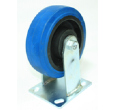 Колесо большегрузное обрезиненное не поворотное C550R\EUP5200B (диаметр 125 мм)