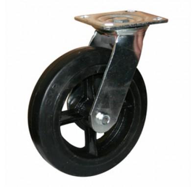 Колесо большегрузное обрезиненное поворотное SCd200 (диаметр 200 мм)