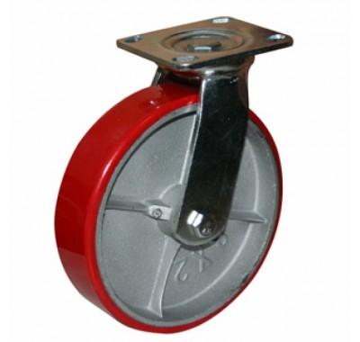 Колесо большегрузное полиуретановое повротное SCp200 (диаметр 200 мм)