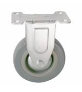 Колесо аппаратное серая резина не поворотное FCg100 (диаметр 100 мм)