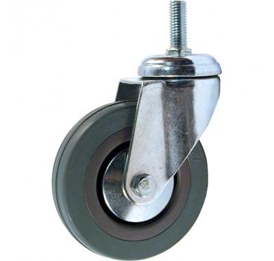Колесо аппаратное серая резина болтовое крепление SCTG 75 (диаметр 75 мм)