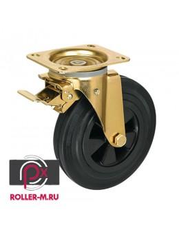 Колесо промышленное поворотное с тормозом SRCmb200
