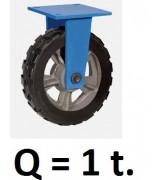 Колесо большегрузное не поворотное RXDR-200, резина (Д=200 мм, Q=1000 кг)