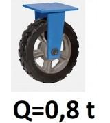 Колесо большегрузное не поворотное RXDR-150, резина (Д=150 мм, Q=800 кг)