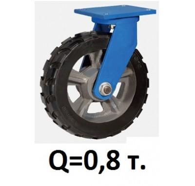 Колесо большегрузное поворотное RXDSR-150, резина (Д=150 мм, Q=800 кг)