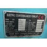 Электропогрузчик б.у. BAOLI CPD 15 (1500 кг \ 3 метра \ 2013 г.)