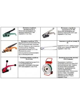 Интрумент для ручной обвязки груза ПЭТ (полиэстеровой) лентой