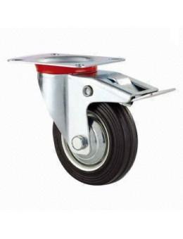 Колесо промышленное поворотное с торм. SCb160 (диам. 160 мм)