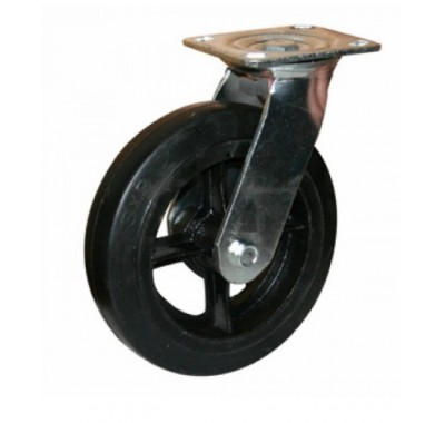 Колесо большегрузное обрезиненное поворотное SCd100 (диаметр 100 мм)