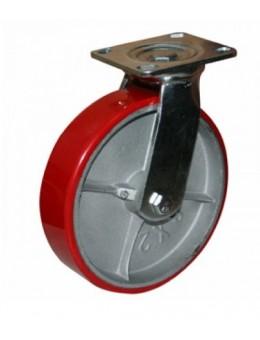Колесо большегрузное полиуретановое поворотное SCp160 (диаметр 160 мм)